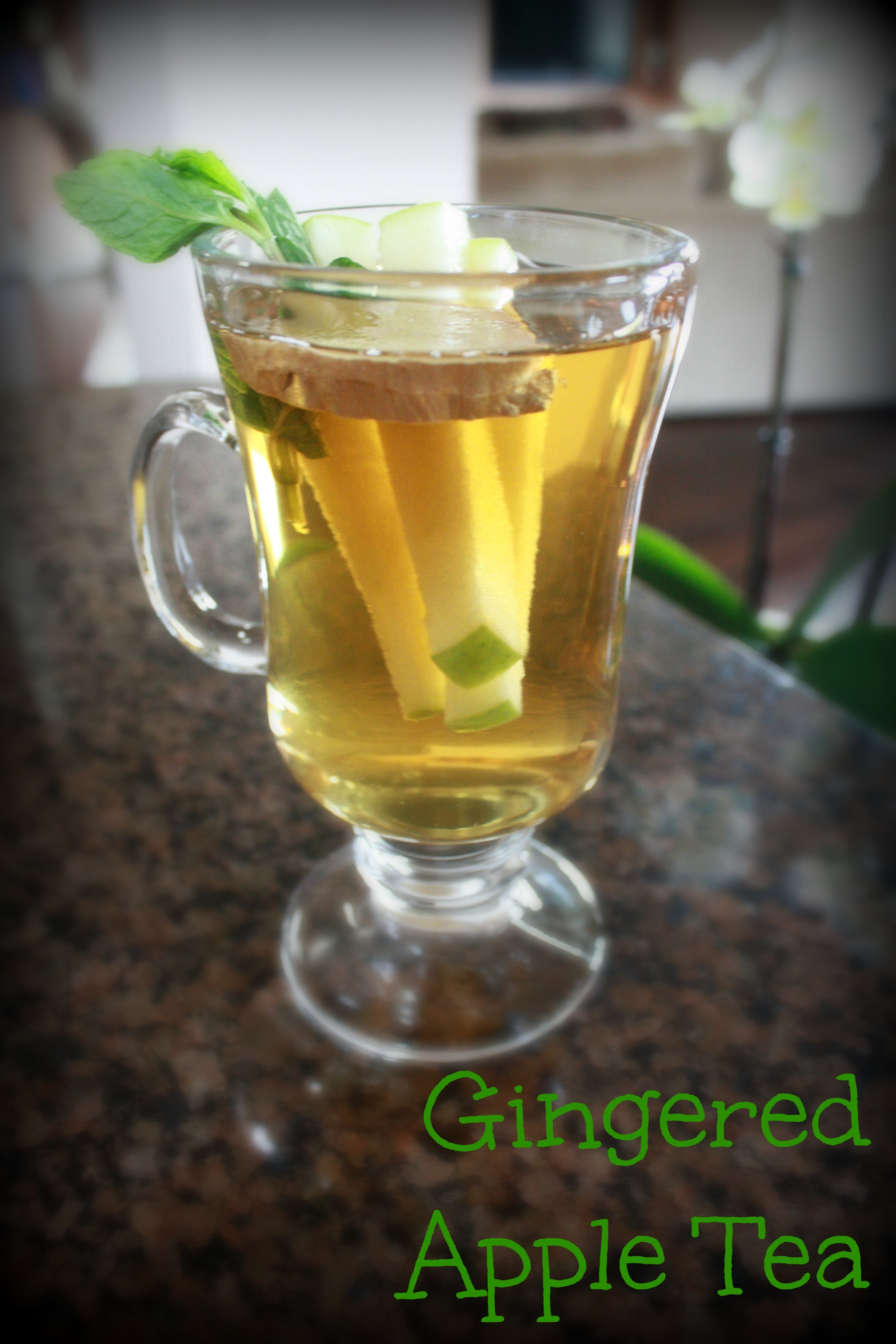 Apple Ginger Mint Iced Tea Recipe — Dishmaps