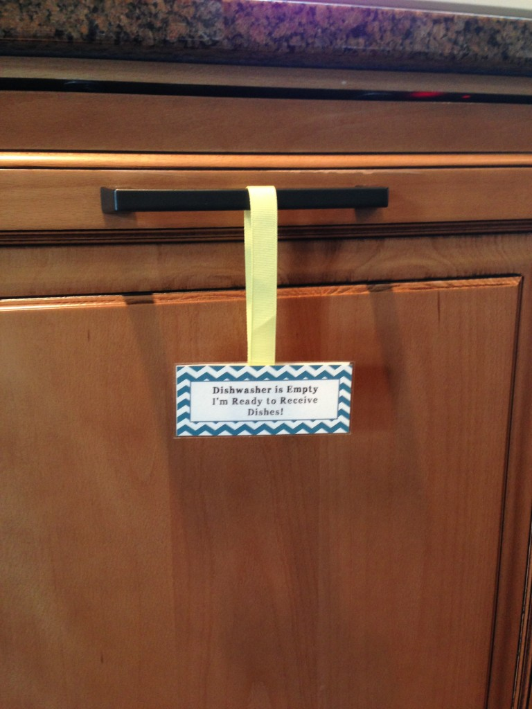 Dishwasher Sign