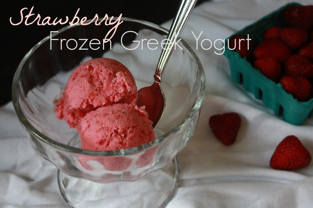 Strawberry Frozen Greek Yogurt