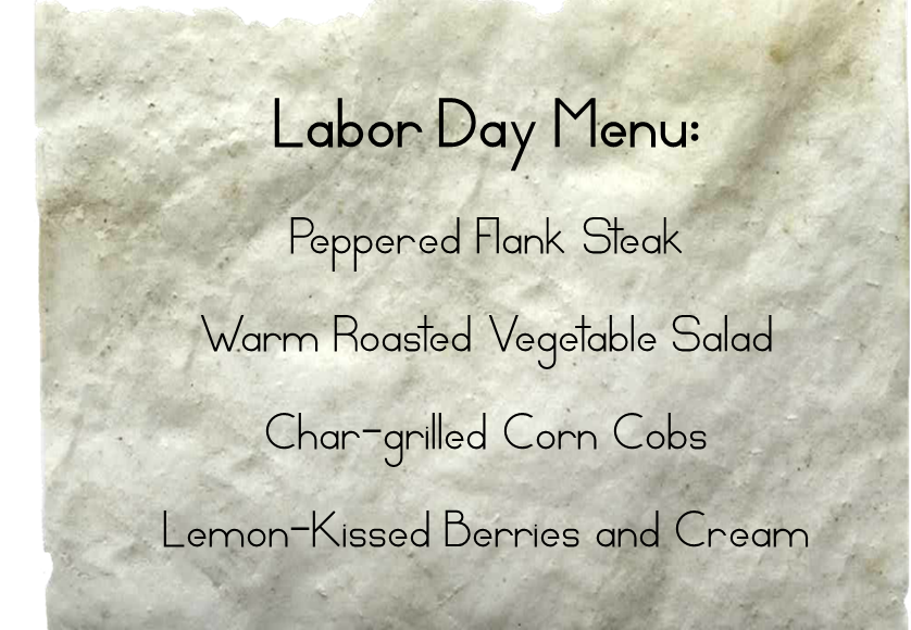 Labor Day Menu