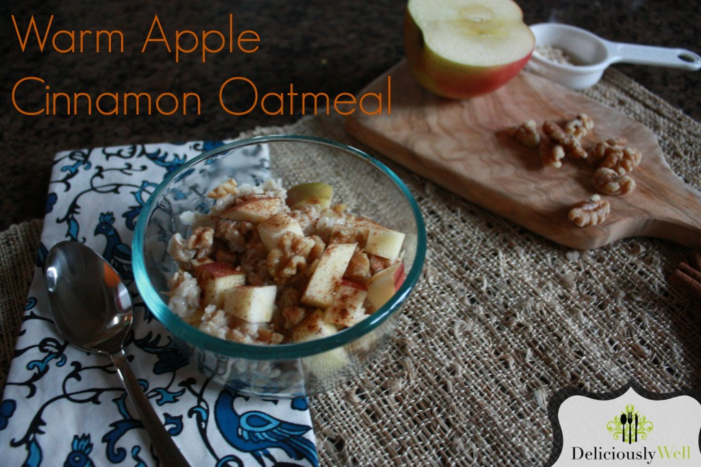 Recipe: Warm Apple Cinnamon Oatmeal