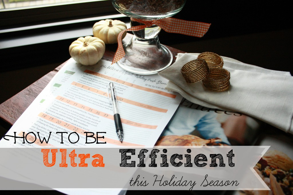 How To Be Ultra Efficient this Holiday Season