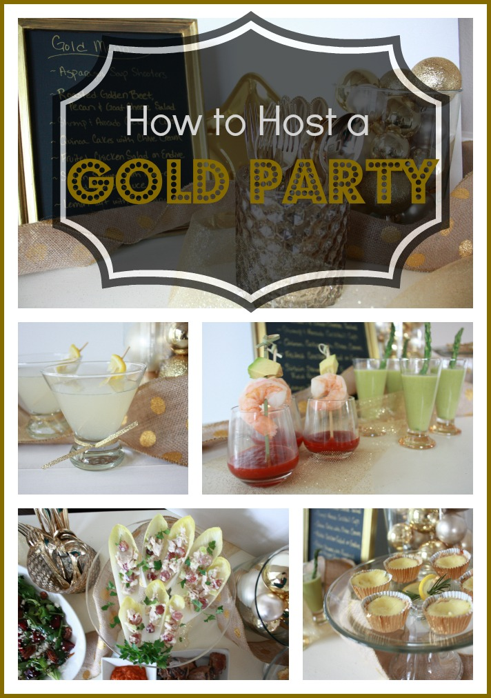 Anniversary, New Year's, or Anniversary Gold Party