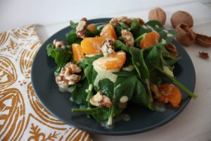 Citrus Spinach and Walnut Salad