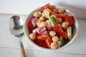 Chickpea, Bell Pepper and Avocado Salad