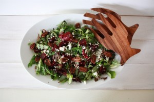 Beet, Pecan and Goat Cheese Salad