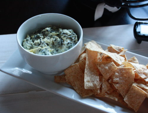 How to Slim-down Super Bowl {with Recipe: Light Spinach Artichoke Dip}