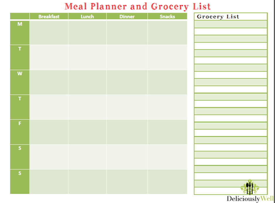 Meal Planner and Grocery List